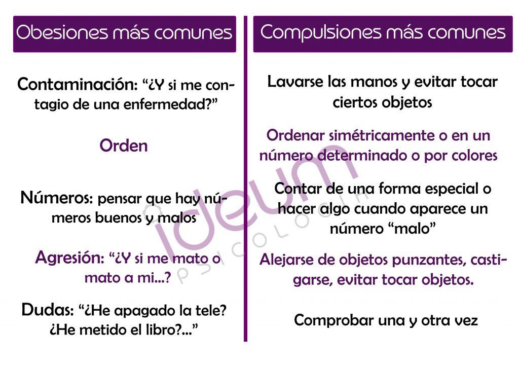 obsesiones y compulsiones - Ideum Psicología - Rivas